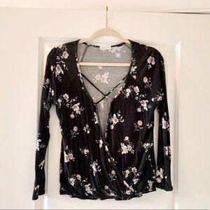 Full Tilt Tilly's Long Sleeve Floral Shirt
